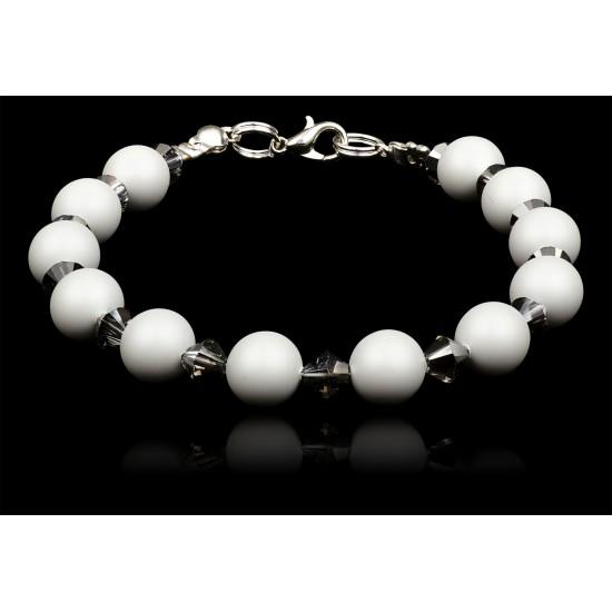 Bransoletka Crystal Pastel Grey Pearl