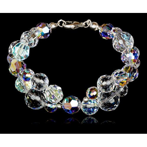 Bransoletka Beads Crystal AB