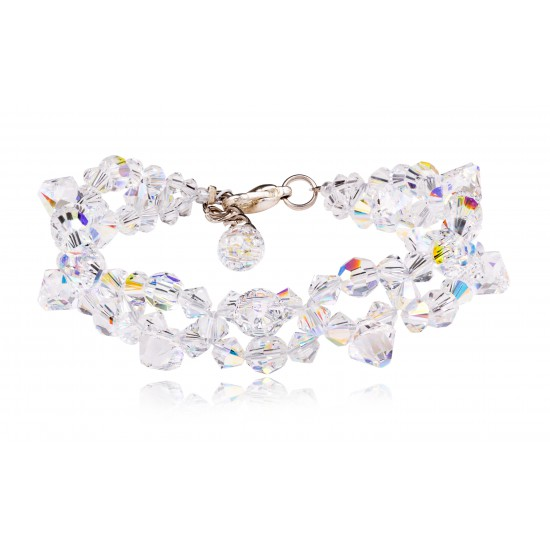 Bransoletka Bicone Beads Crystal AB