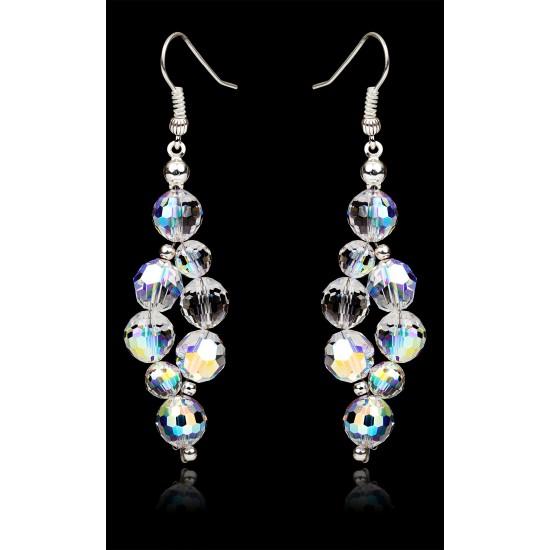 Kolczyki Beads Crystal AB
