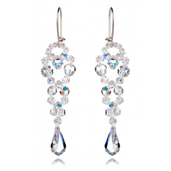 """Kolczyki """"Bicone Beads Crystal AB"""""""