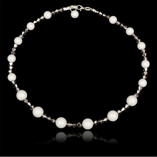 Naszyjnik Crystal Pastel Grey Pearl