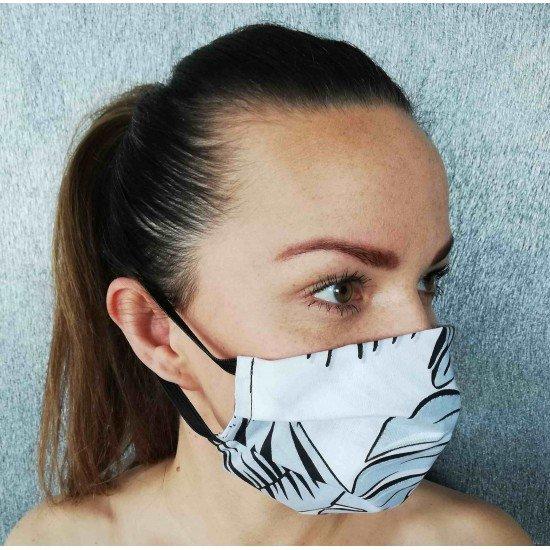 Maseczka ochronna damska z kieszonką na filtr - MODEL 02