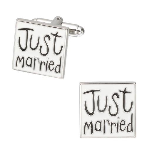 Spinki do mankietów - Just married